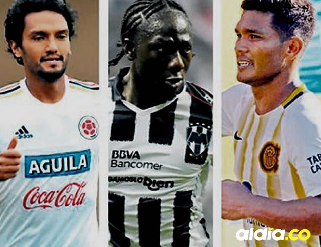 De izquierda a derecha: Francisco Meza (25 años), Pablo Armero (30 años), Alex Mejía (28 años), Abel Aguilar (32 años), Yimmi Chará (26 años), Teo Gutiérrez (32 años).