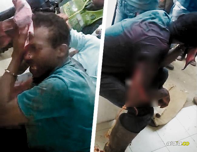 David Barbosa fue macheteado por la comunidad que lo señala como el presunto responsable del doble crimen.   AL DÍA