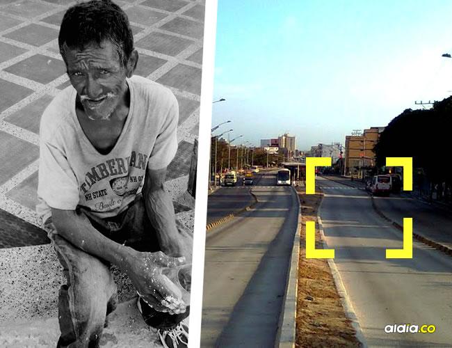 Aristóbulo De la Hoz Ramos, de 65 años, fue embestido por una motocicleta (derecha) cuando atravesaba la Murillo. | Al Día