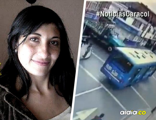 Claudia Forero evitó que su hijo fuera arrollado por el bus del SITP en un accidente en Bogotá.