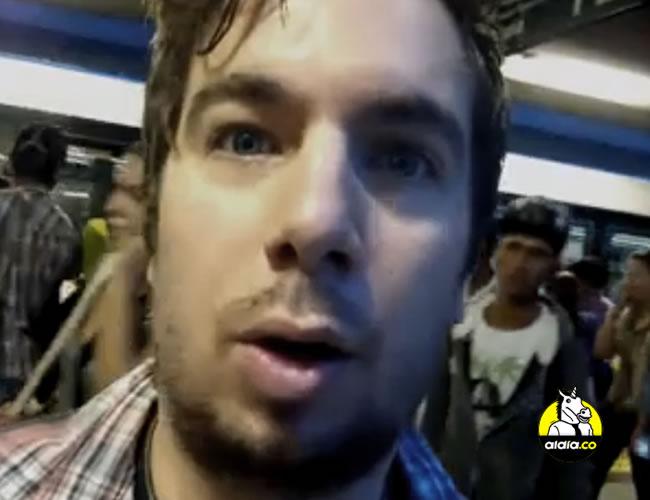 Edwin se subió en la estación San Antonio y lo que vino después lo contó sin tapujos (y con mucha seriedad y altura, hay que reconocerlo) en un video | Facebook