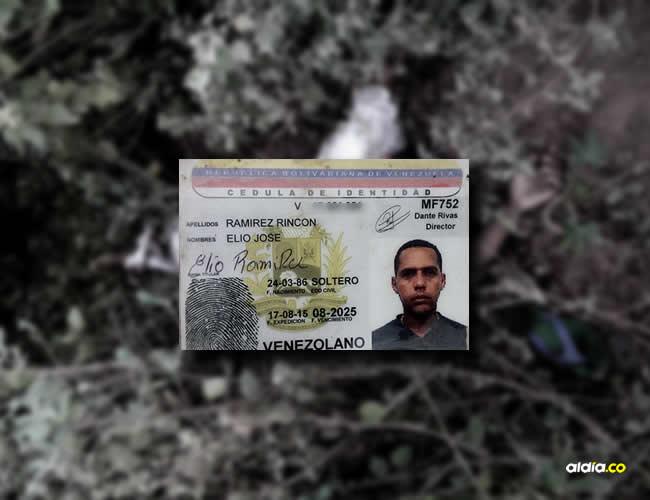 Elio José Ramírez Rincón ingresó legalmente a Colombia, a trabajar honestamente, pero lo mataron al parecer para no pagarle un trabajo. | Al Día
