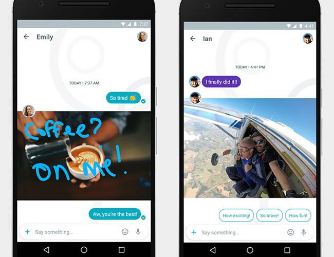 Google Allo recurre a elementos ya tradicionales en las aplicaciones de mensajería, como stickers, emoticonos y añade uno de los que tiene más futuro en tecnología: los asistentes personales | Google