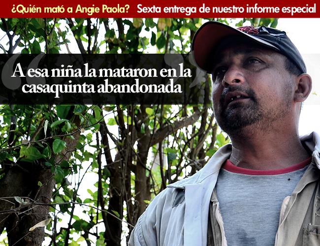Mario Algarín Carrillo, celador de la finca Los Mangos, quien halló los restos de Angie Paola. | Foto: Jesus Rico