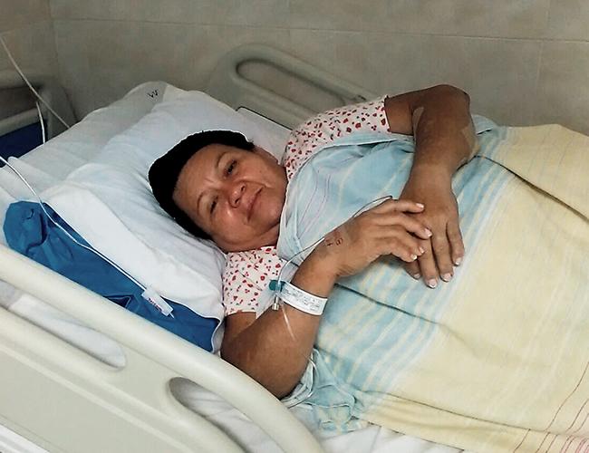 Lucelly Arraut Lobo, de 55 años, se recupera en el Hospital Metropolitano. | Foto: Archivo