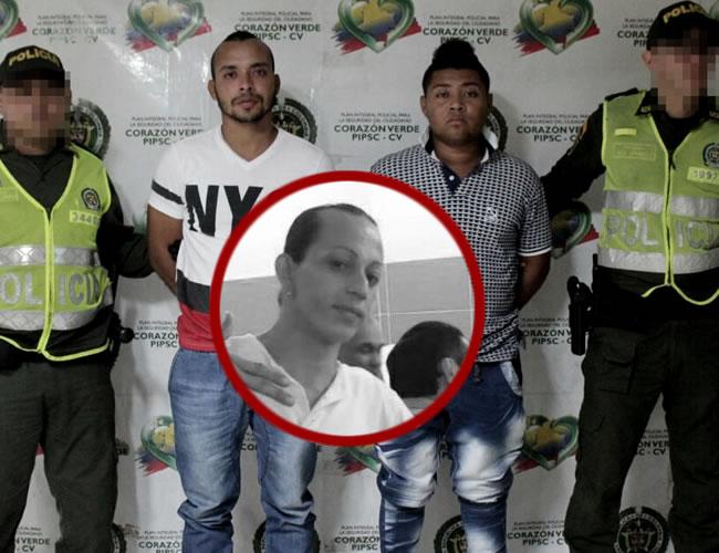 Deiber Acosta y Pedro Rivera, señalados por la Policía de cometer el homicidio. Fueron capturados | Cortesía