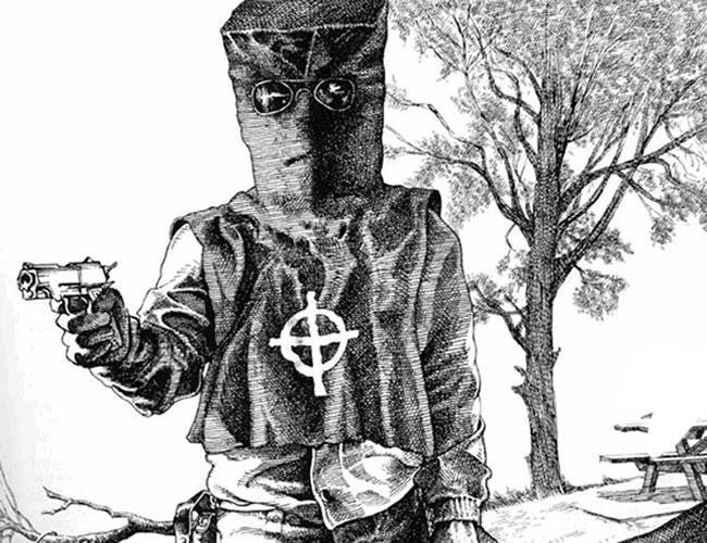 Uno de los dibujos que apreció del Asesino del Zodiaco durante la investigación | Foto: Archivo