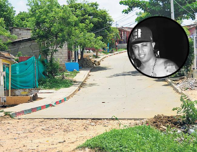 La colisión de las dos motos ocurrió en la calle 75C con carrera 21B, barrio Nueva Colombia. En este lugar ocurrió el crimen | Foto: Al Día
