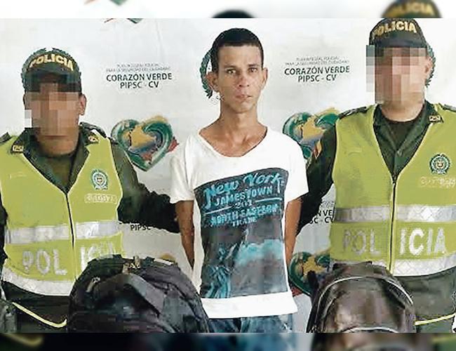 Jarlin Consuegra De Alba fue capturado tras una persecución de la Policía en el barrio El Oasis, de Soledad. | Foto: Archivo