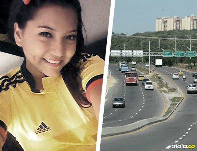 Itala Johana Colina Sandoval, de 24 años, murió en el acto tras ser embestida por un taxi en la Vía Circunvalar. | AL DÍA