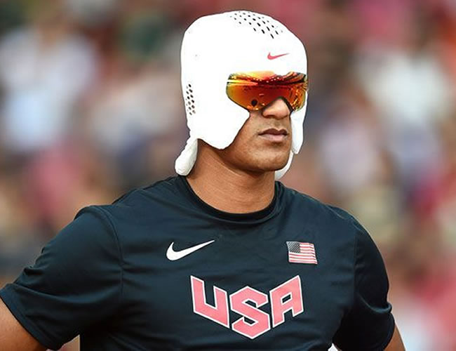 Ashton Eaton usará es gorro para bajar la temperatura de su cabeza tras la competencia  | Yahoo
