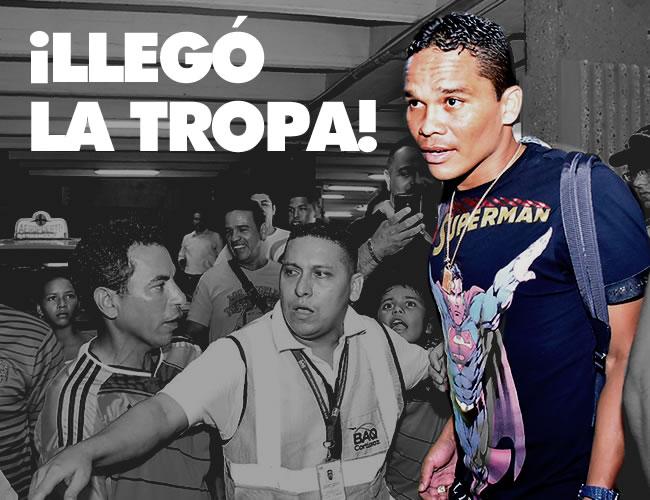 Carlos Bacca está muy feliz de cara a los duelos por la eliminatoria. El porteño fue de los más ovacionados ayer. | ALDIA
