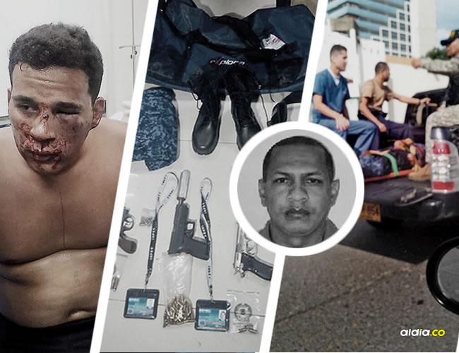 Yeison Andrés Rico Posada (izq), uno de los delincuentes capturados, cuando era trasladado a un centro médico.   Lorena Henríquez/AL DÍA