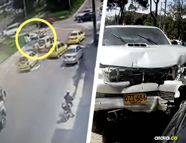 El resultado del choque múltiple y del tiroteo también fue documentado por los transeúntes. | Youtube