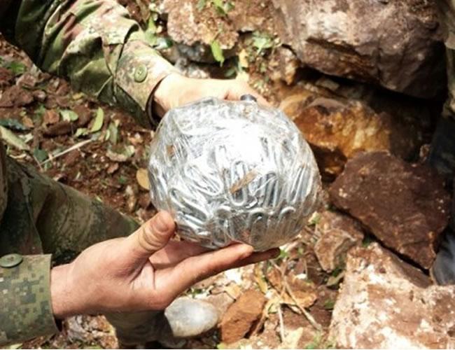 Esta es una foto de referencia de un balón bomba como los que fabrica el ELN. Este fue encontrado en Norte de Santander. | Ejército