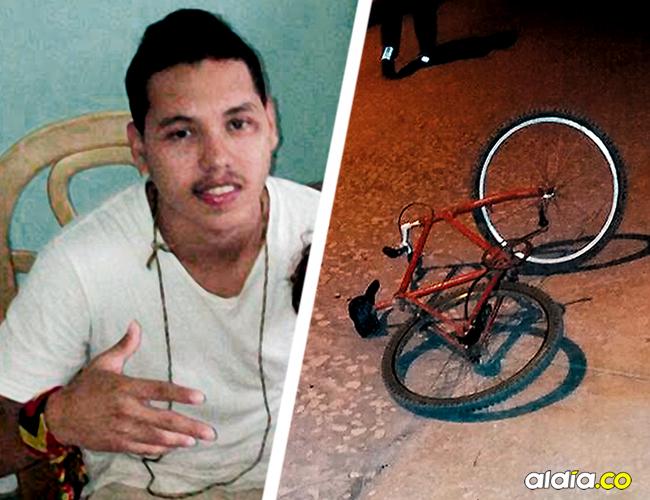 La bicicleta supuestamente objeto del hurto quedó a pocos metros de donde cayó muerto Steven Andrés Herrera. | AL DÍA