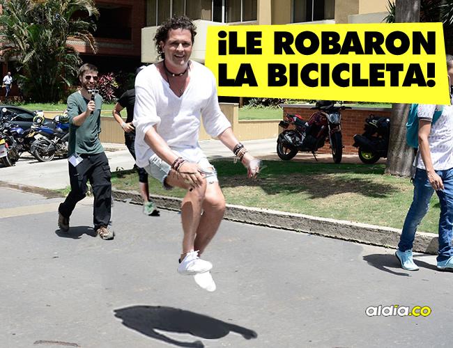 El cantante samario reportó a través de su cuenta de Twitter que su bicicleta había sido hurtada y se lo hizo saber a Shakira | ALDIA.CO