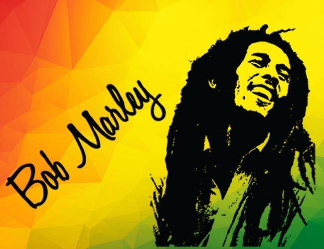 Bob Marley y una de sus imágenes icónicas. | Foto: Archivo