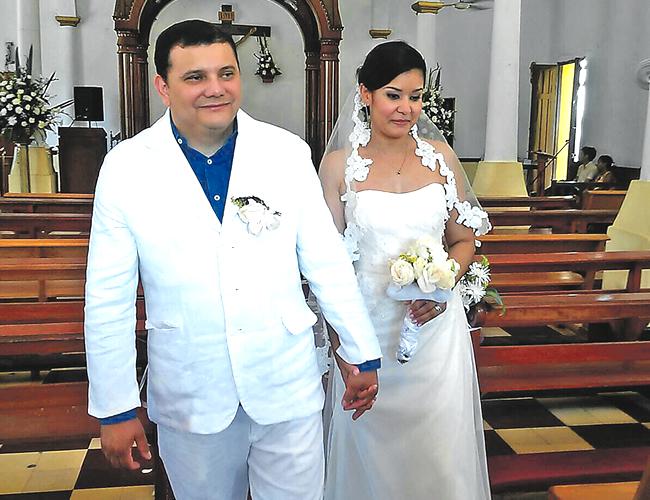 Carolina Redondo y su esposo José Molina