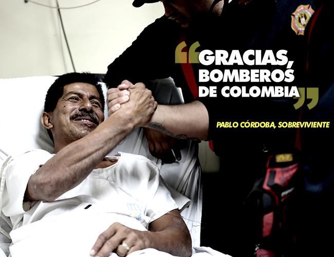 Los cuerpos de bomberos de Cuenca y Bogotá se movieron inmediatamente al lugar. Trabajaron durante varias horas en la ubicación de Pablo hasta que lo encontraron. | AP