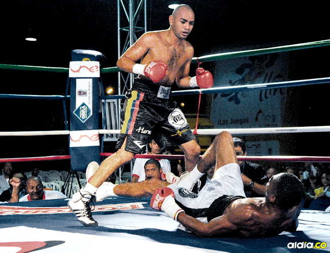 Líkar Ramos, campeón superpluma AMB (1995). | AL DÍA