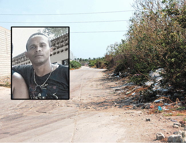 En este camino queda la entrada al lugar donde encontraron el torso que correspondería al carricochero Eliécer Antonio Martínez Ortiz. | Foto: Archivo