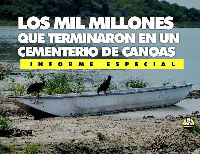 Estos goleros hicieron un nido en una canoa donada por la Gobernación. A los pescadores no les sirven las embarcaciones porque no tienen las medidas tradicionales. | Luis Felipe De la Hoz