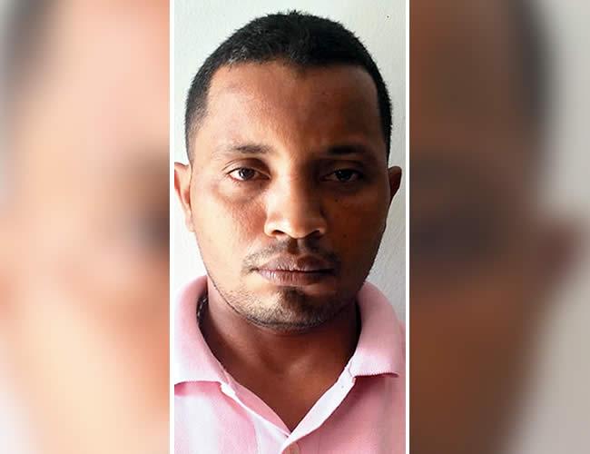 El capturado: Jackson Jair Escobar Hernández, presunto miembro de la banda delincuencial 'Los Chavos'.