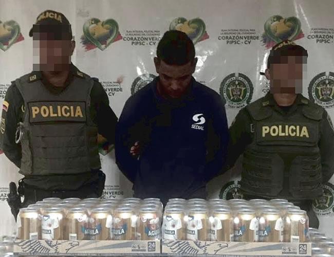 Wilmer Alberto Oquendo Reyes fue capturado por el robo de diez pacas de cervezas en lata en una bodega | Foto: Al día