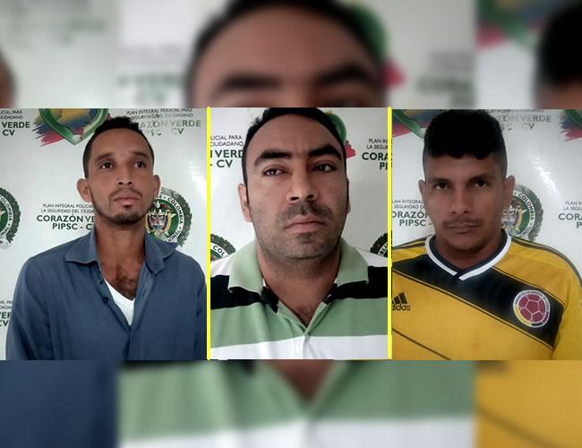 Jesús Antonio Gutierrez, Miguel Ángel González y Johan Beltrán capturados por el crimen del directo de Medicina Legal | Foto: Al Día