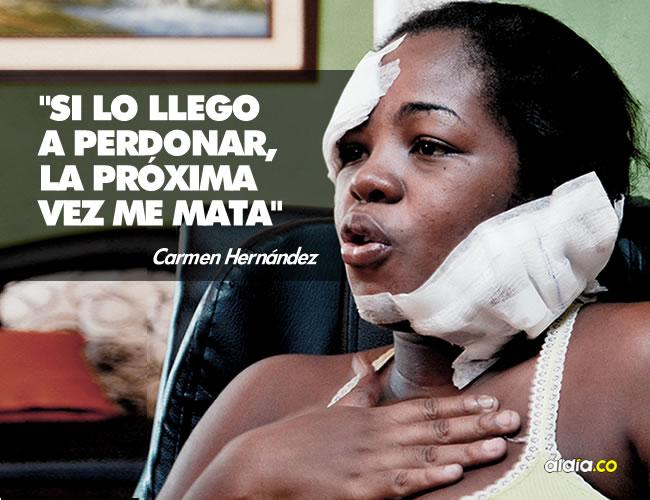 Según Carmen, Cervera fue a la casa con la excusa de entregarle el dinero del transporte del hijo de 4 años que tiene con ella, y por eso le abrió la puerta. | César Bolívar