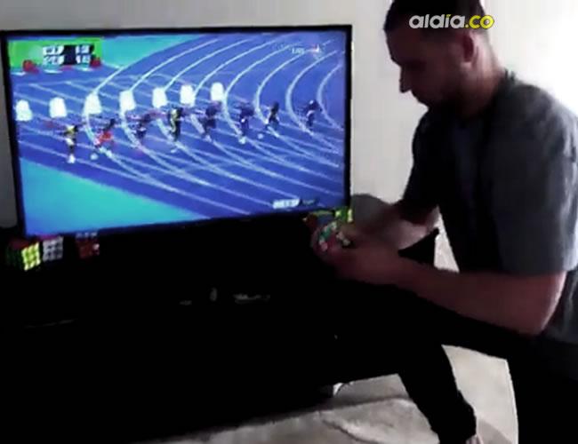 Anthony Brooks superó con sus manos la velocidad del hombre más rápido del mundo | Captura de Pantalla
