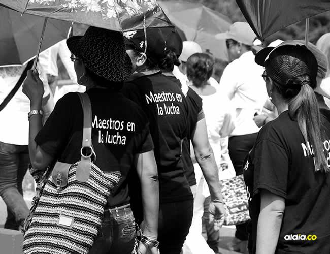 Los maestros de Sucre han realizado varias movilizaciones para exigir garantías en su seguridad. | Al Día