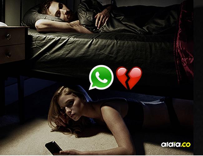 Las personas celosas pueden encontrar en las conversaciones de WhatsApp material para descubrir a su pareja | ALDÍA.CO