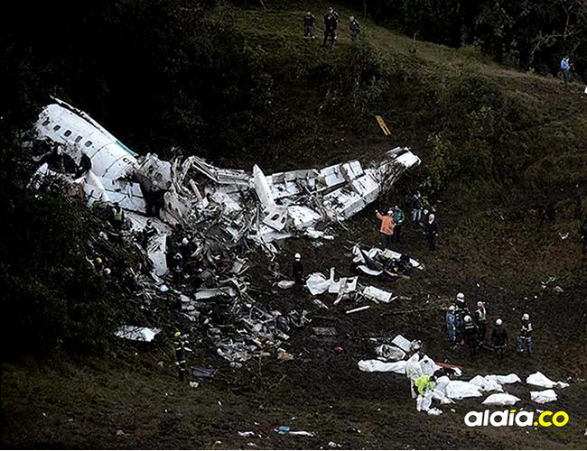 Cerro donde ocurrió el accidente aéreo en Antioquia. | Archivo