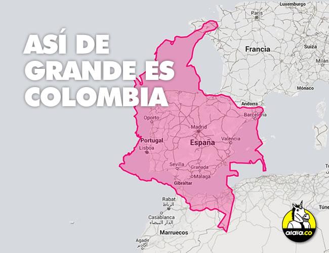 Los mapamundis nos mintireron siempre. las dimensiones y distancias están mal y es hora de ver qué tan grande es en realidad Colombia | ALDIA.CO