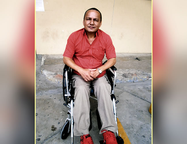 El concejal Alci Villanueva quedó en silla de ruedas | Foto: Al Día