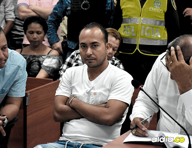 Alberto Mario Cabrera Barrios, alias Ñeco, durante una de las audiencias celebradas en la sala de servicios judiciales. | AL DÍA