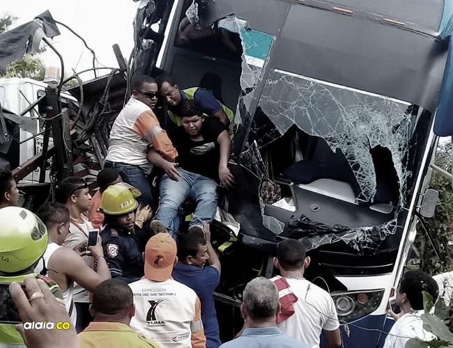 José Manuel Quiroz del Castillo, ayudante del bus, quedó atrapado entre las latas retorcidas tras el accidente. | Al Día