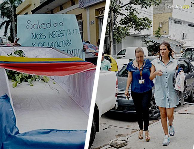 Una agente del CTI conduce la mañana del 30 de septiembre a Donado Ibáñez a la URI de la Fiscalía, en Barranquilla | César Bolivar y Archivo