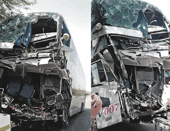 Así quedó el bus de la empresa Costa Line que cubría la ruta Valledupar - Barranquilla.   Foto: Archivo