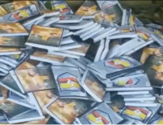 El material fue destruido en uno de los batallones del Ejército Nacional | Foto: Captura de pantalla
