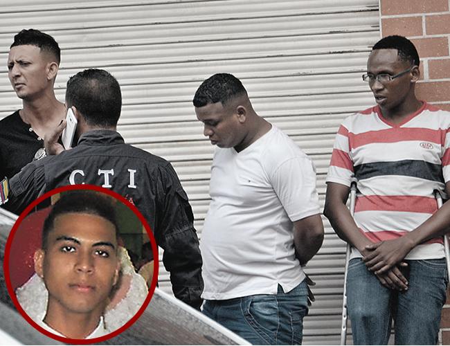 Óscar Blanco Finamores, Miguel Cortina Gutiérrez y Edwin Palomeque Córdoba, alias 'Mocho'; capturados por el asesinato de Johnny Suárez. | Foto: AL DÍA
