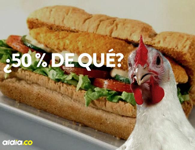 La cadena de sándwich indica que las fajitas y el pollo contienen únicamente un 1% de soya a o menos | Cortesía
