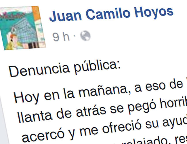 Esta denuncia podría devolverle la fe en la bondad de los colombianos | Foto: AlDía.co