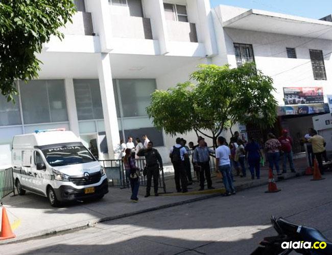 La mujer recapturada cuando se encontraba en cercanías de la Unidad de Reacción Inmediata, URI, en el Centro de Barranquilla.
