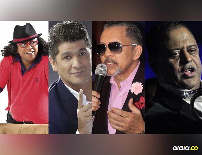 Sergio Vargas, Eddy Herrera, Rafa Rosario y Wilfrido Vargas.