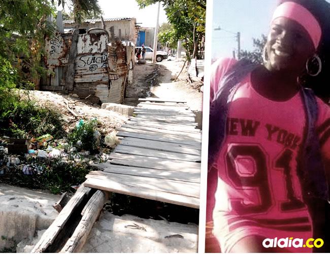 En este puente del barrio El Bosque, Luz Hernández recibió el impacto de bala cuando hablaba con unos conocidos.