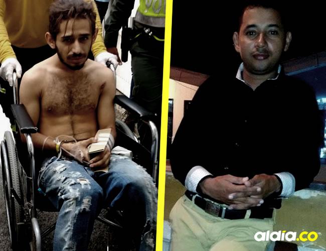 Andrés Felipe Álvarez Carrascal, de 18 años, capturado. Deiber Rafael Cardona Mejía, de 31 años | Cortesía