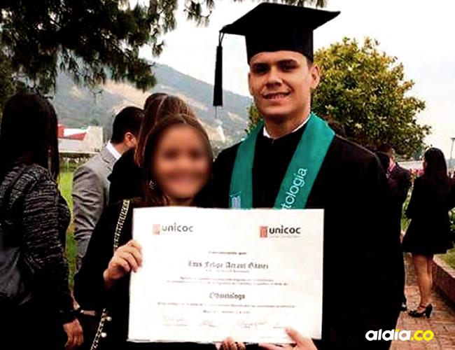 Luis Felipe Arraut Gómez, de 24 años durante su graduación   Al Día